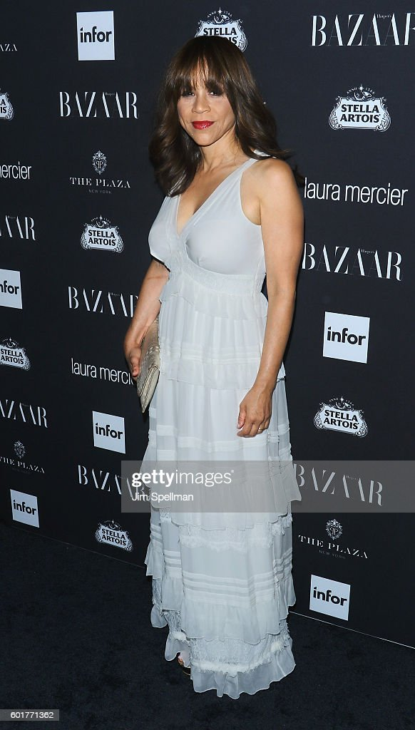 Actress Rosie Perez attends the Harper's BAZAAR celebrates 'ICONS By Carine Roitfeld' at The Plaza Hotel on September 9, 2016 in New York City.