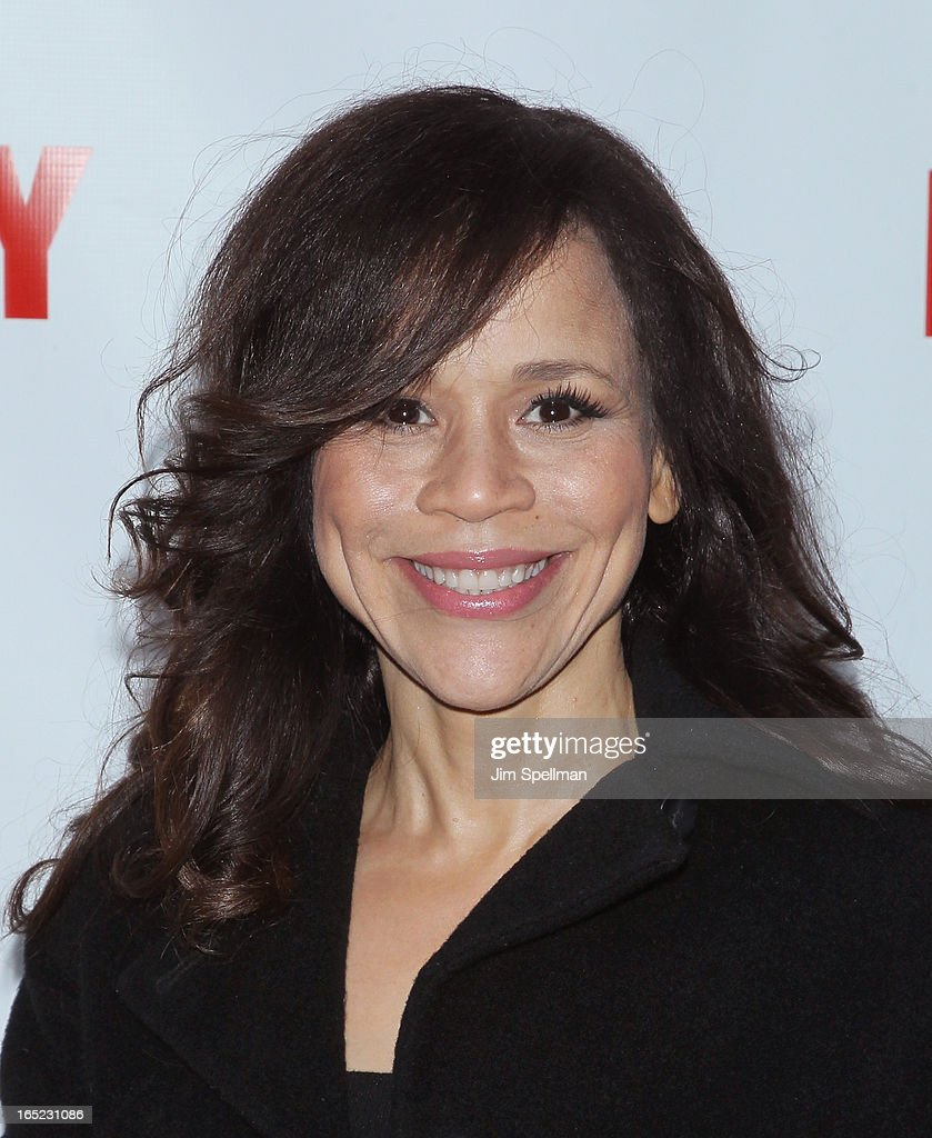 Actress Rosie Perez attends the 'Lucky Guy' Broadway Opening Night - Arrivals & Curtain Call at The Broadhurst Theatre on April 1, 2013 in New York City.