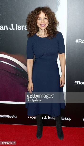 Actress Rosie Perez attends theRoman J Israel Esquire New York premiere at Henry R Luce Auditorium at Brookfield Place on November 20 2017 in New...