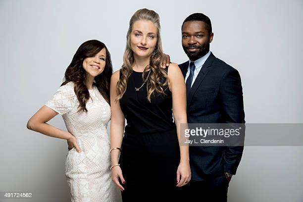 """Actress Rosie Perez, Director Maris Curran, and actor David Oyelowo, from the film """"Five Nights in Maine"""" are photographed for Los Angeles Times on..."""