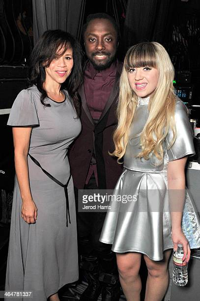 Actress Rosie Perez host william and Leah McFall backstage at the william hosted third annual TRANS4M concert benefitting the iamangel Foundation at...