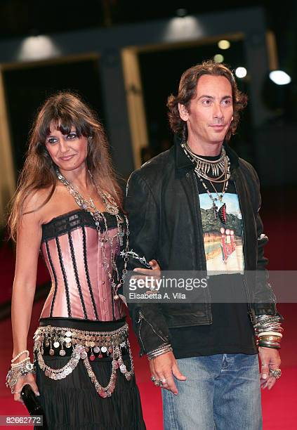 Actress Rosita Celentano and Soldano Kunz D'Asburgo attend the 'Yuppi Du' premiere during the 65th Venice Film Festival on September 4 2008 in Venice...