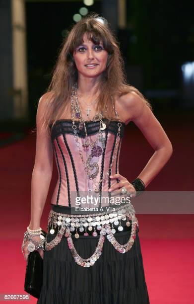 Actress Rosita Celentano attends the 'Yuppi Du' premiere during the 65th Venice Film Festival on September 4 2008 in Venice Italy