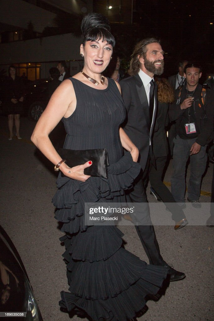 Actress Rossy de Palma and hairdresser John Nollet are seen leaving the 'Palais des Festivals' during the 66th Annual Cannes Film Festival on May 26, 2013 in Cannes, France.