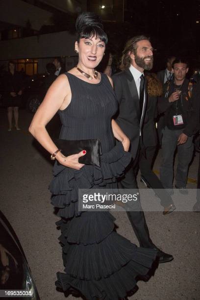 Actress Rossy de Palma and hairdresser John Nollet are seen leaving the 'Palais des Festivals' during the 66th Annual Cannes Film Festival on May 26...