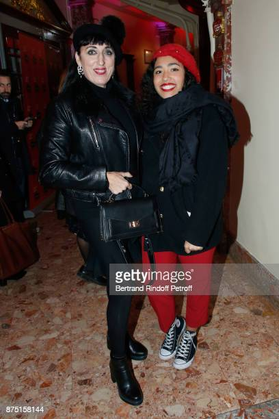 Actress Rossy de Palma and her daughter Luna Mary attend 'Depardieu Chante Barbara' at 'Le Cirque D'Hiver' on November 14 2017 in Paris France