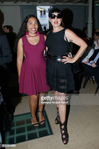 Actress Rossy de Palma and her daughter Luna Mary attend the Azzedine Alaia Fashion Show as part of Haute Couture Paris Fashion Week Held at Azzedine...