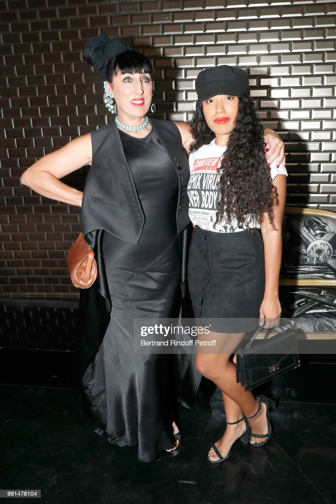 Actress Rossy de Palma and her daughter Luna Mary attend the Jean-Paul Gaultier Haute Couture Fall Winter 2018/2019 show as part of Paris Fashion Week on July 4, 2018 in Paris, France.