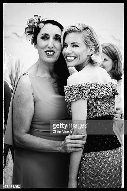Actress Rossy de Palma and Sienna Miller are photographed on May 15 2015 in Cannes France