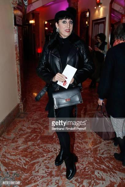 Actress Rossy de Palma attends 'Depardieu Chante Barbara' at 'Le Cirque D'Hiver' on November 14 2017 in Paris France