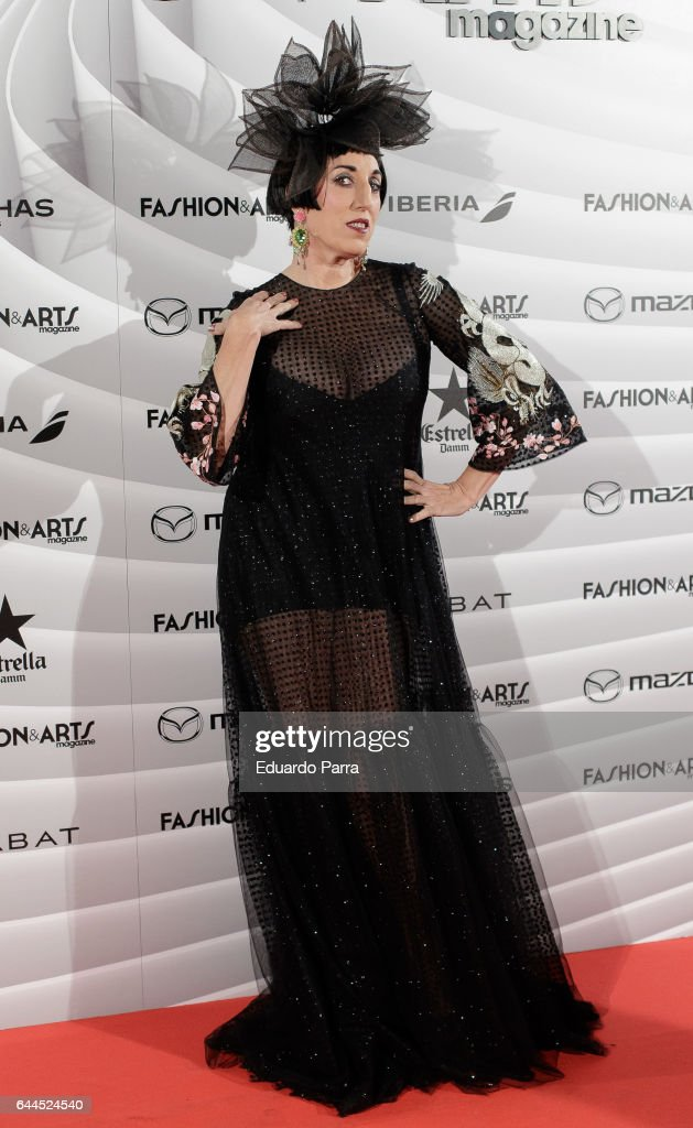 Actress Rossy de Palma attends the 'Fashion & arts' photocall at Reina Sofia museum on February 23, 2017 in Madrid, Spain.