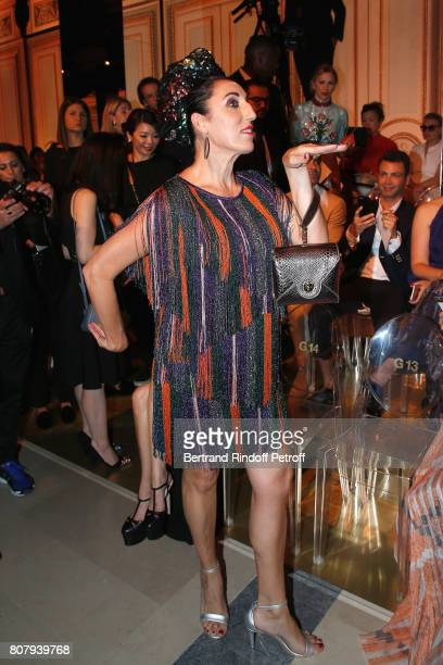 Actress Rossy de Palma attends the Giorgio Armani Prive Haute Couture Fall/Winter 20172018 show as part of Haute Couture Paris Fashion Week on July 4...