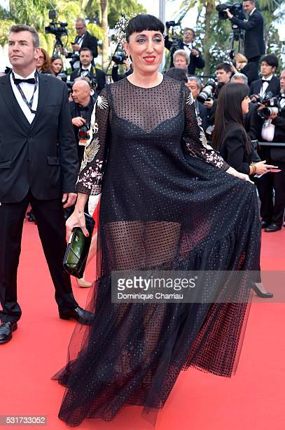 Actress Rossy De Palma attends the 'Loving' premiere during the 69th annual Cannes Film Festival at the Palais des Festivals on May 16 2016 in Cannes...