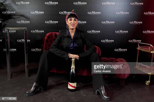 Actress Rossy de Palma attends the opening of the 'House Of GH Mumm' on November 23 2017 in Madrid Spain