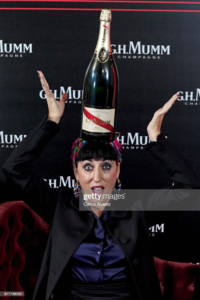 Actress Rossy de Palma attends the opening of the 'House Of G.H. Mumm' on November 23, 2017 in Madrid, Spain.