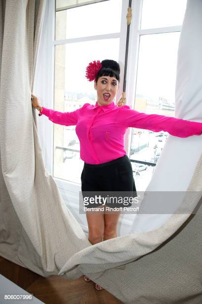 Actress Rossy de Palma attends the Schiaparelli Haute Couture Fall/Winter 20172018 show as part of Haute Couture Paris Fashion Week on July 3 2017 in...