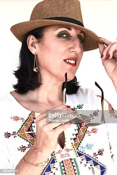 Actress Rossy de Palma is photographed for Self Assignment on May 17 2014 in Cannes France