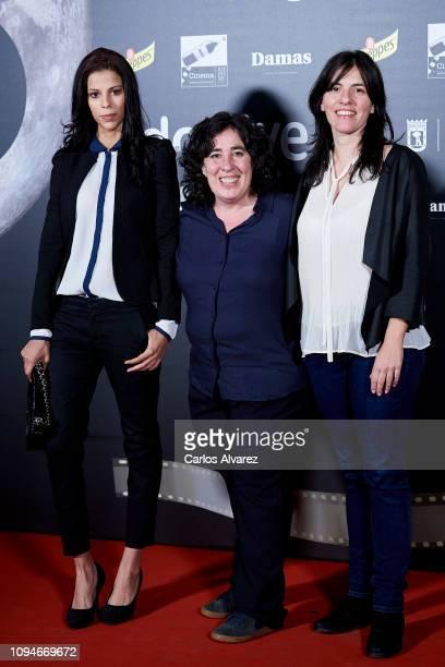 Actress Rosy Rodriguez director Arantxa Echevarria and producer Pilar Sanchez attend 'Dias de Cine' awards at Cineteca on January 15 2019 in Madrid...