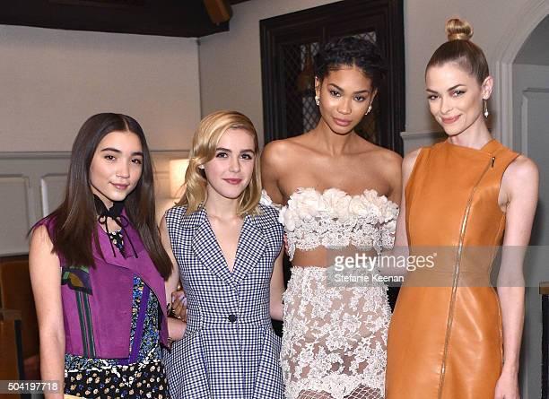 Actress Rowan Blanchard actress Kiernan Shipka model Chanel Iman and actress Jaime King attend W Magazine's It Girl luncheon in partnership with...