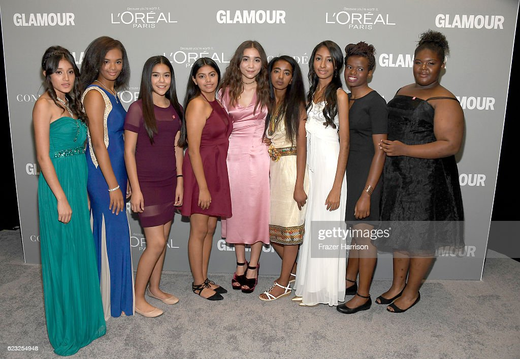 Actress Rowan Blanchard (C) and guests attend Glamour Women Of The Year 2016 at NeueHouse Hollywood on November 14, 2016 in Los Angeles, California.