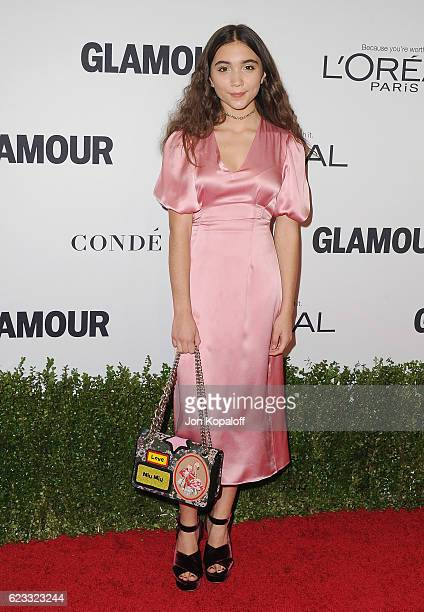 Actress Rowan Blanchard arrives at Glamour Women Of The Year 2016 at NeueHouse Hollywood on November 14 2016 in Los Angeles California