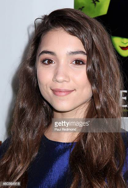 Actress Rowan Blanchard arrives at Red Carpet Opening Night of 'Wicked' at the Pantages Theatre on December 11 2014 in Hollywood California