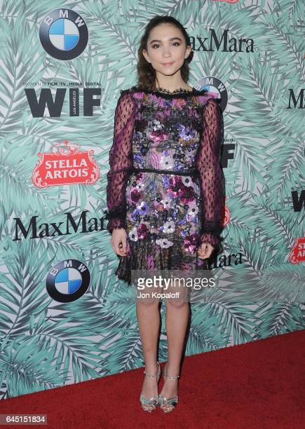 Actress Rowan Blanchard arrives at the 10th Annual Women In Film Pre-Oscar Cocktail Party at Nightingale Plaza on February 24, 2017 in Los Angeles,...