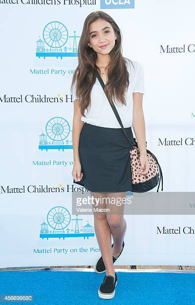 Actress Rowan Blanchard arrives at the 15th Annual Party On The Pier Hosted By Sarah Michelle Gellar at Santa Monica Pier on October 5 2014 in Santa...