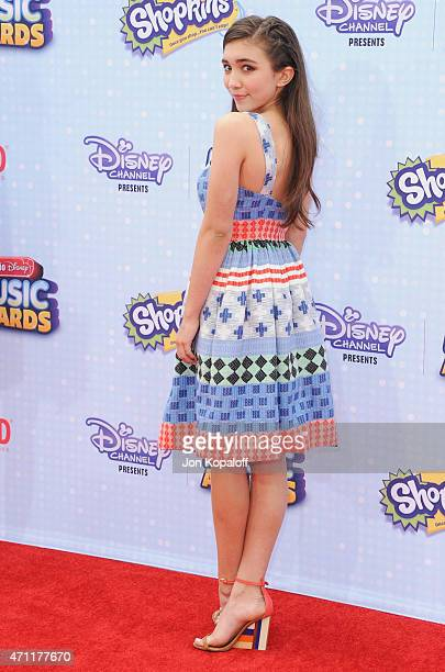 Actress Rowan Blanchard arrives at the 2015 Radio Disney Music Awards at Nokia Theatre LA Live on April 25 2015 in Los Angeles California