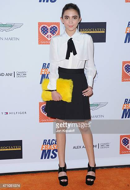 Actress Rowan Blanchard arrives at the 22nd Annual Race To Erase MS at the Hyatt Regency Century Plaza on April 24 2015 in Century City California
