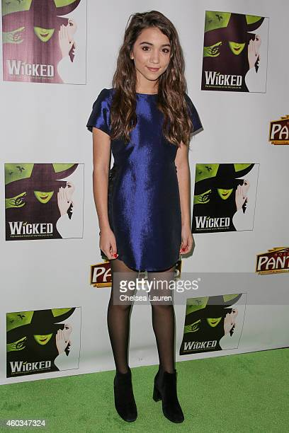 Actress Rowan Blanchard arrives at the opening night green carpet for 'WICKED' at the Pantages Theatre on December 11 2014 in Hollywood California