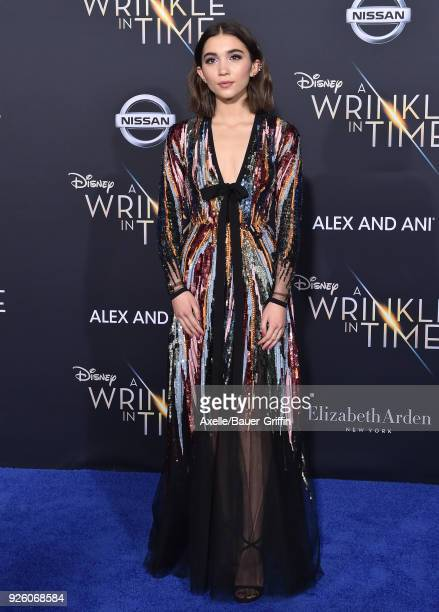 Actress Rowan Blanchard arrives at the premiere of Disney's 'A Wrinkle In Time' at El Capitan Theatre on February 26 2018 in Los Angeles California