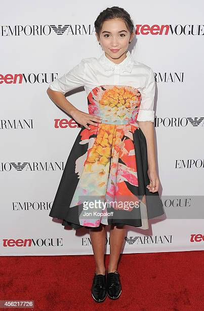 Actress Rowan Blanchard arrives at the Teen Vogue Young Hollywood Party on September 26 2014 in Los Angeles California