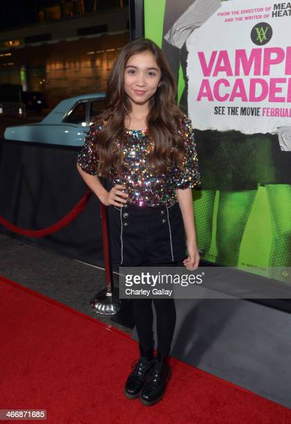 Actress Rowan Blanchard arrives at The Weinstein Company's premiere of 'Vampire Academy' at Regal 14 at LA Live Downtown on February 4 2014 in Los...