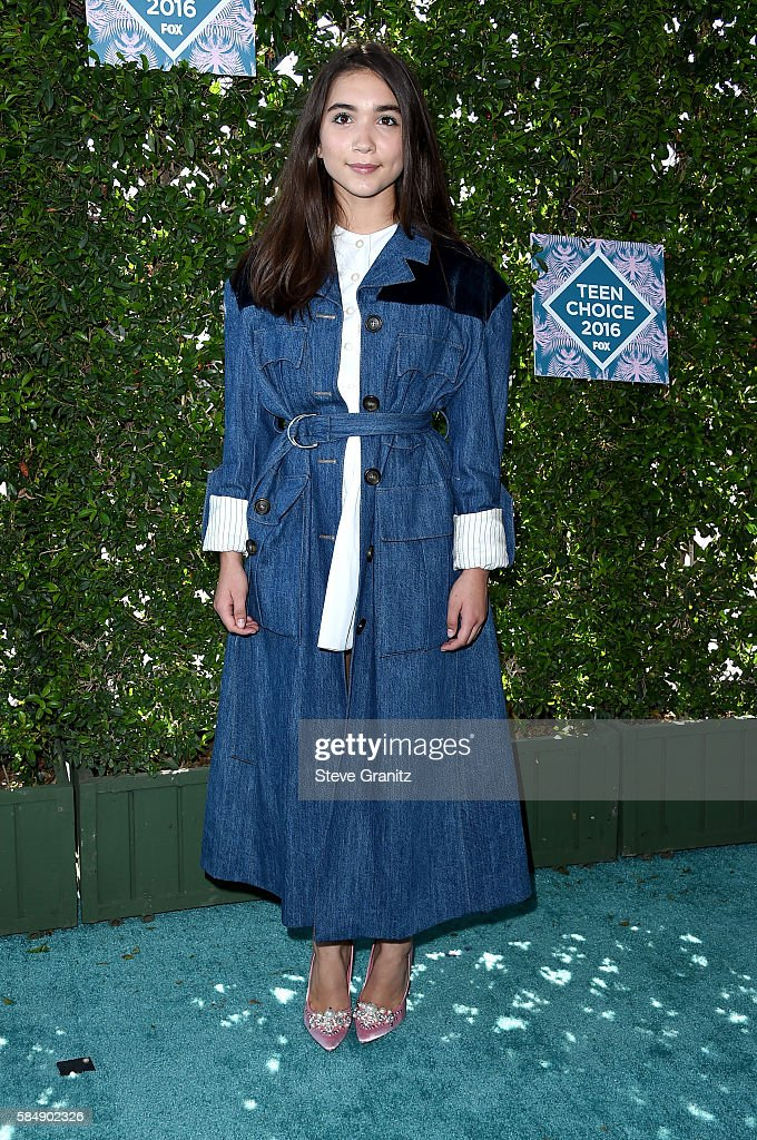 Actress Rowan Blanchard attends Teen Choice Awards 2016 at The Forum on July 31, 2016 in Inglewood, California.