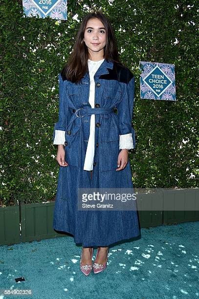 Actress Rowan Blanchard attends Teen Choice Awards 2016 at The Forum on July 31 2016 in Inglewood California