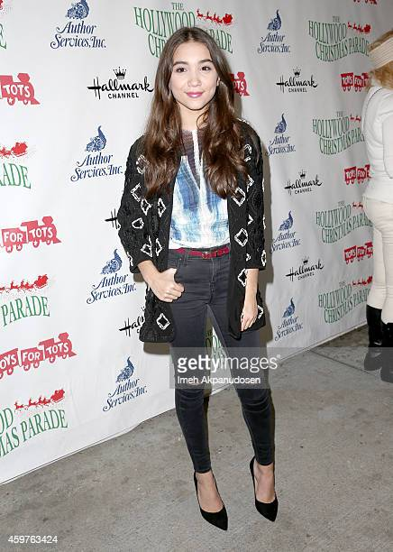 Actress Rowan Blanchard attends the 83rd Annual Hollywood Christmas Parade with musical performances by Grand Marshal Stevie Wonder and legendary...