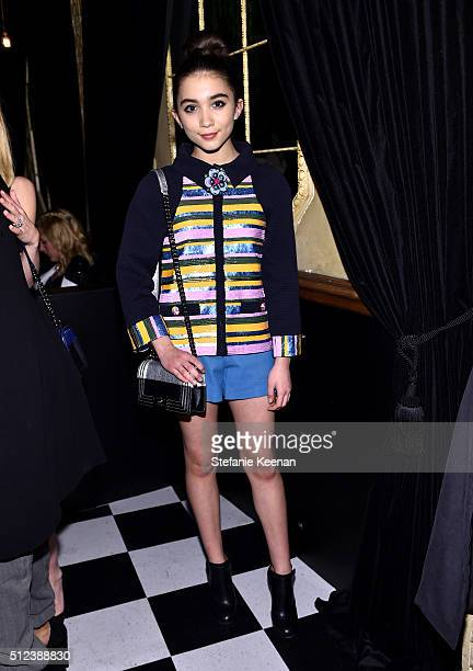 Actress Rowan Blanchard attends the I Love Coco Backstage Beauty Lounge at Chateau Marmont's Bar Marmont on February 25 2016 in Hollywood California