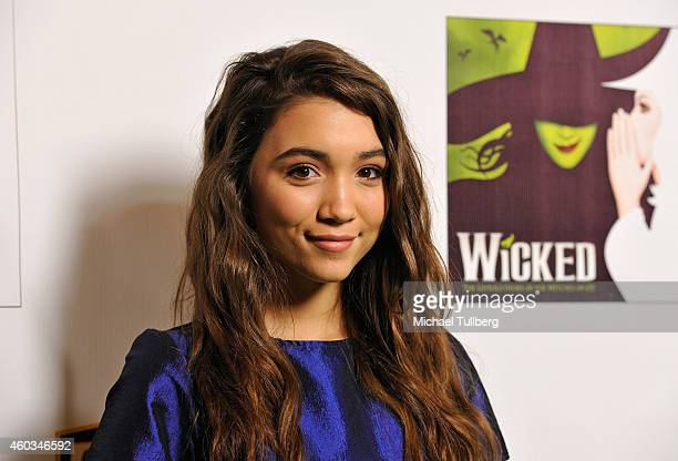 Actress Rowan Blanchard attends the opening night of the musical 'Wicked' at the Pantages Theatre on December 11 2014 in Hollywood California