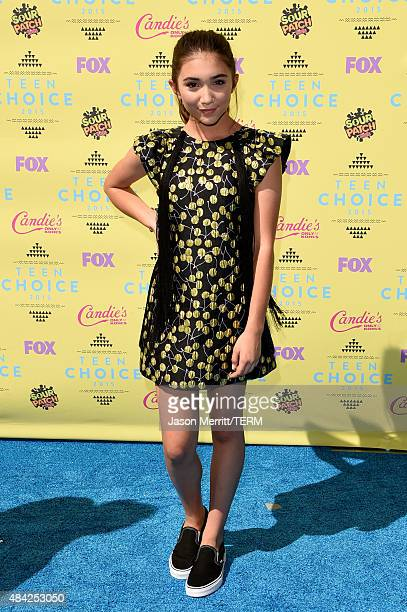Actress Rowan Blanchard attends the Teen Choice Awards 2015 at the USC Galen Center on August 16 2015 in Los Angeles California