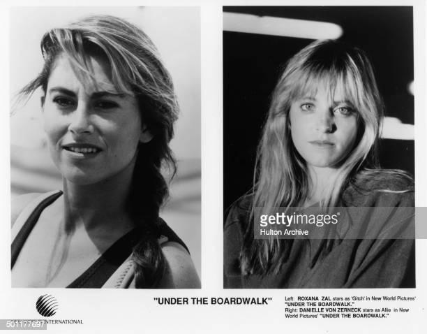 actress Roxana Zal look in actress Danielle von Zerneck poses for the movie Under the Boardwalk circa 1989