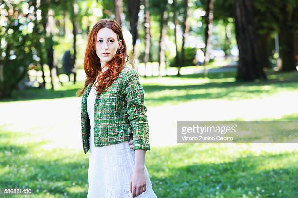 Actress Roxane Duran poses during the 69th Locarno Film Festival on August 7 2016 in Locarno Switzerland