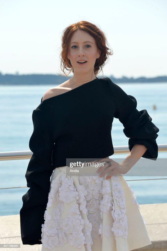 Actress Roxane Duran posing for a photocall on the occasion of the MipTV, International Television Programme Market, in Cannes (south-eastern France) on .