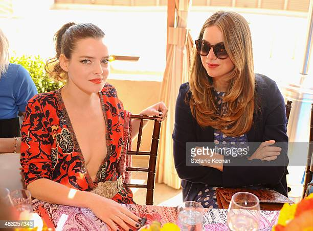 Actress Roxane Mesquida and photographer Claiborne Swanson Frank attend Vogue Lunch In Celebration Of The Etro Spring Collection Hosted By Sally...