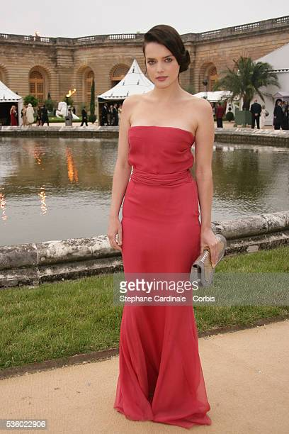 Actress Roxane Mesquida at the Christian Dior Haute Couture FallWinter 2007/2008 collection held at the Versailles Castle Orangery Christian Dior...