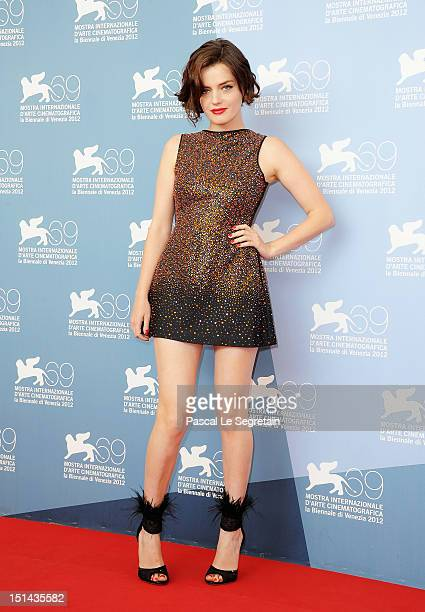 Actress Roxane Mesquida attends the Kiss of the Damned Photocall during the 69th Venice Film Festival at the Palazzo del Casino on September 7 2012...