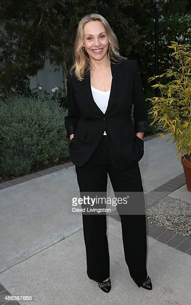 Actress Roxane Wilson attends the media launch for the new Australian Theatre Company and it's first production 'Holding the Man' at the Official...