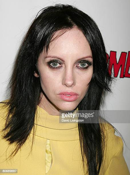 Actress Roxy Saint attends the Los Angeles premiere of 'Zombie Strippers' at the Landmark Theatre on April 15 2008 in Los Angeles California