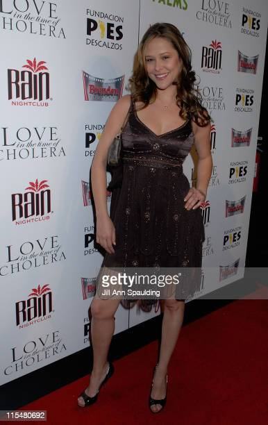 Actress Rubria Marcheens Negrao arrives at 'An Evening of Love' benefitting The Bare Feet Foundation featuring a special screening of 'Love in the...