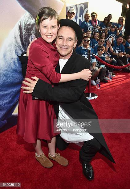 Actress Ruby Barnhill and actor Mark Rylance arrive on the red carpet for the US premiere of Disney's The BFG directed and produced by Steven...